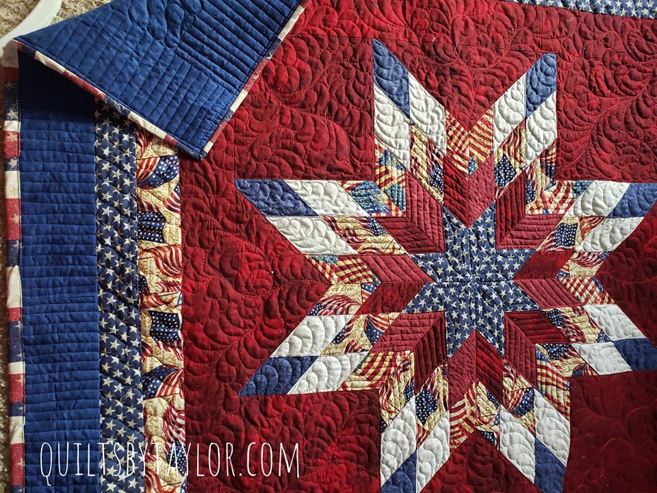 Patriotic Quilt, Red white and blue