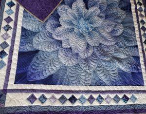 modern quilting, dream big flower quilt